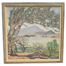H. Oliver Albright California Landscape Painting