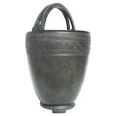 Grand Tour Large Bronze Situla From Pompeii Model in Naples