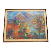 Jean Marzelle Painting French Mid-century Neo Impressionist