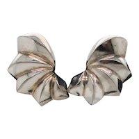 Tiffany  Sterling Clip-on Vintage  Earrings