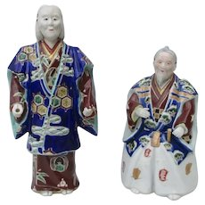 Kutani Porcelain Actors Vintage-A Pair