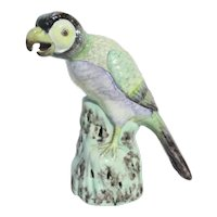 Antique Chinese Porcelain Parrot 18th Century