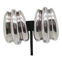 Sterling Silver Modernist Earrings by Bayanihan  70s'