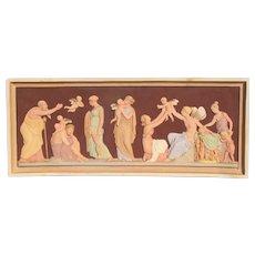 Polychrome Terra Cotta Panel Ages of Love by Copenhagen Ipsen
