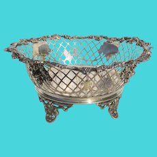Sterling Silver Pierced Bowl Dated 1852 James Dixon &Sons