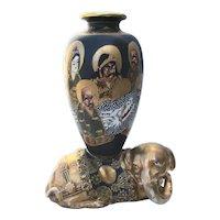 Satsuma Vase  on Reclining Elephant