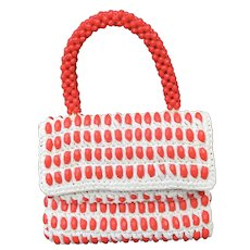 Vintage Italian Ladies  Beaded Handbag