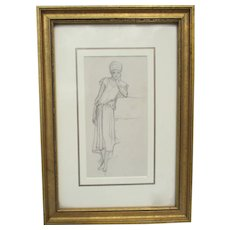 Gustave Achille Guillaumet Drawing circa 1860s'