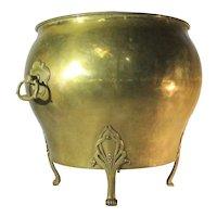 Antique Art Nouveau English Brass Jardiniere