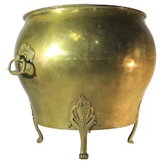 Antique Art Nouveau English Brass Jardiniere