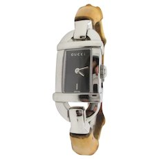 Gucci Swiss Faux Bamboo Watch