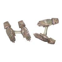 Vintage American Hand-Form  Cufflinks