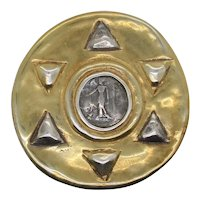 Modern Art Pin by Jaded Ancient Greek Coin