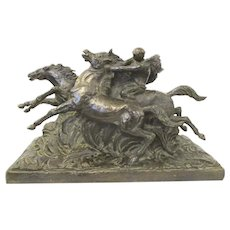 Paul Silvestre Bronze Sculpture La Chevauchee Raiders
