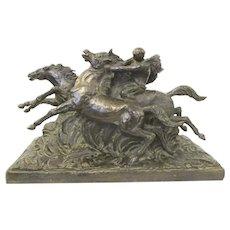 Paul Silvestre Bronze Sculpture La Chevauchee Raiders