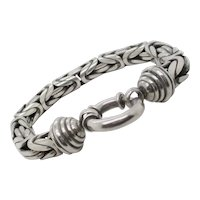 Fine Mexican Sterling Silver Woven Link Chain