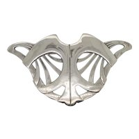 Sterling Pin of Cat Face Modern Design