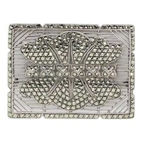1980s German Marcasite Pin