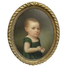Late 19th Century Naive Child Portrait