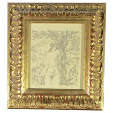Female Nude Art Litho from the 1920s'