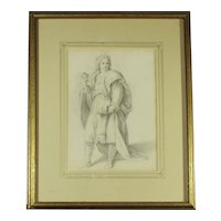 Framed Drawing after Andre del Sarto Annunziata Chapel