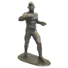 Gori Art Deco Bronze Boxer by Georges Gori Circa 1930s'