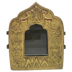 Tibetan Traveling Shrine Gau Box for Painting Scrolls