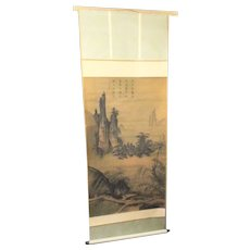 Monumental Ming reproduction Scroll Mid-20th Japanese