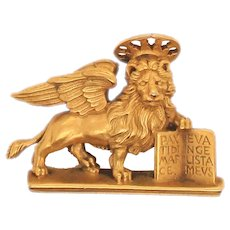Lion of St. Mark Gilt Pin or Pendant Metropolitan Museum of ART