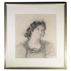 Antonio Mancini Attributed Drawing
