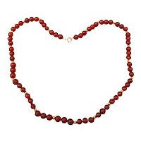 Carnelian and Gold Necklace