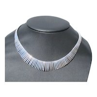 1980s Fringed Sterling Silver Necklace