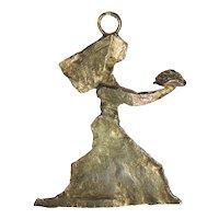 1980s Art Brut Pendant in Gilt Bronze