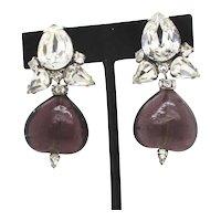 Iradj Moini Clip-on Faux Stone Earrings