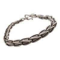 Vintage 1980s Fancy Link Sterling Silver Bracelet