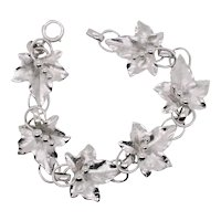 Sterling Silver Ivy and Berry Bracelet