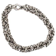Ladies Triple Link Sterling Bracelet
