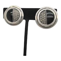Judith Jack Sterling and Marcasite Clip-on Earrings