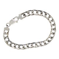 Sterling Silver Italian Design Chain Bracelet