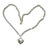 Robert Lee Morris Sterling Silver Long Chain and Heart Pendant