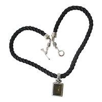 Michael Dawkins Sterling Enhancer Pendant Rope Necklace