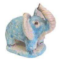 1950s Guido Gambone Ceramic Elephant