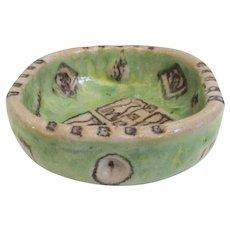 Guido Gambone Ceramic Bowl Vintage 1950s'
