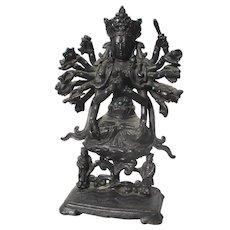 Chinese Ming Bronze Avalokiteshvara Statue Ming Period