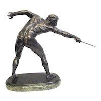 Rudolf Marcus Bronze Gladiator circa 1900