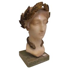 1890s' Marble Head of Victory Sculpture