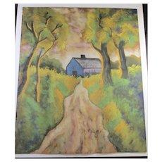 Hugo Scheiber Landscape Painting  Hungarian  Vintage 1930s'