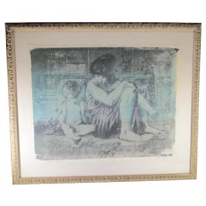 Arthur Lidov  1 of  1 Print of Mother and Child III  Vintage 1980s'