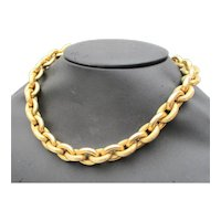 Vintage Italian 14 kt. Gold Oval Link Chain Ca. 1960s'