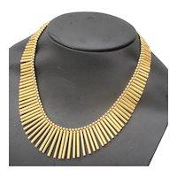 18 Kt. Yellow Gold ItalianGraduated  Fringe Collar Necklace